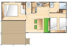 plan bungalow -4 personnes
