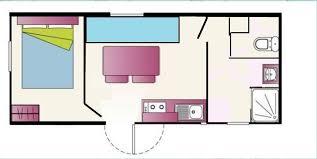 plan bungalow 2 personnes